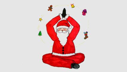 Nikolaus macht Yoga