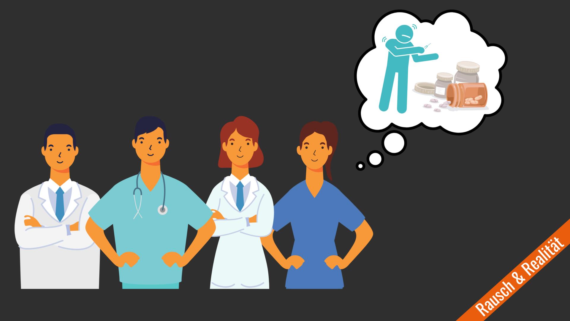 Beitragsbild Suchtrisiko bei medizinischem Personal