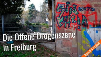 Treffpunkt der Drogenszene, vorne Steinhaus und Zaun