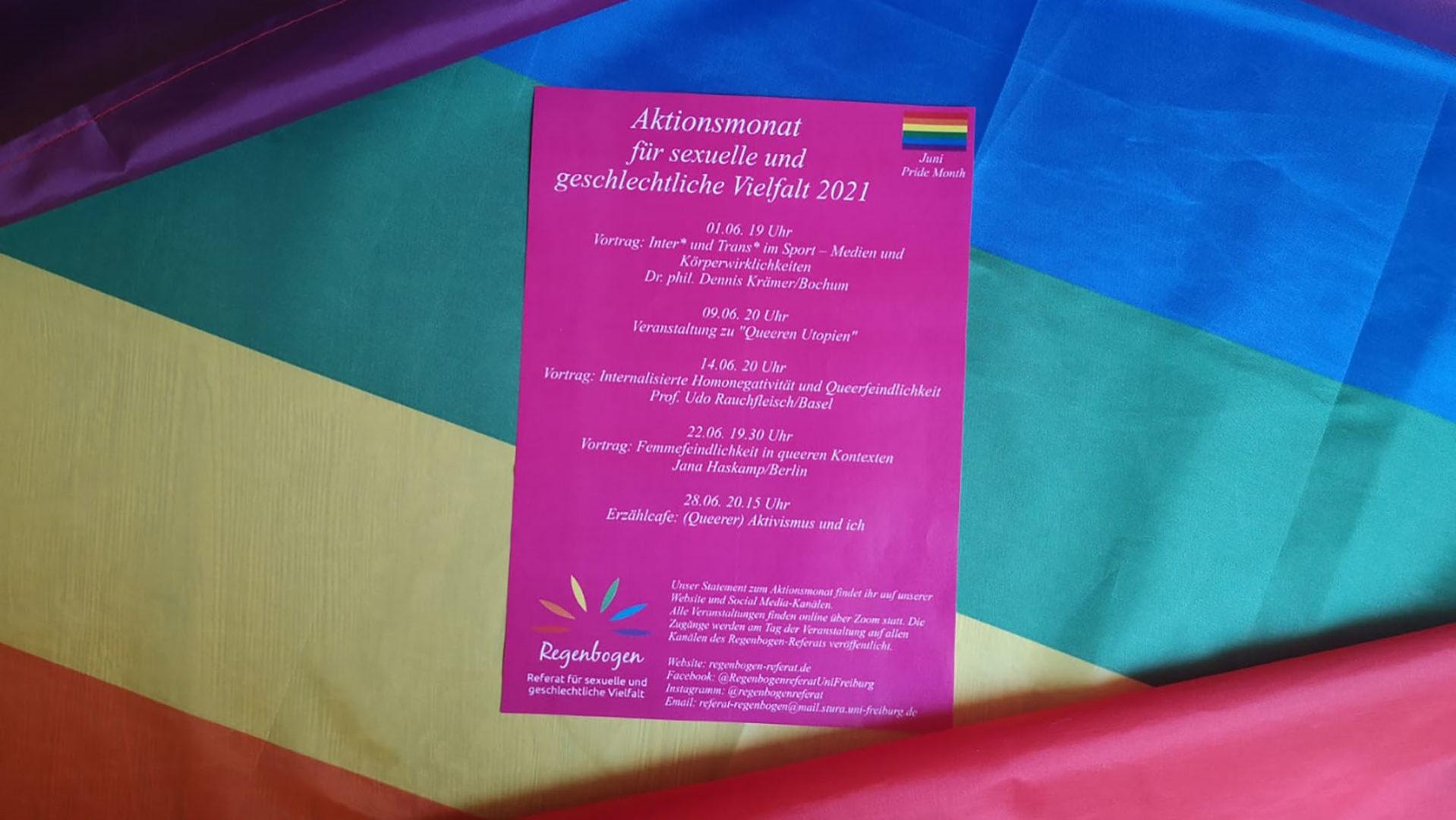 Beitragsbild Aktionsmonat des Regenbogen-Referats